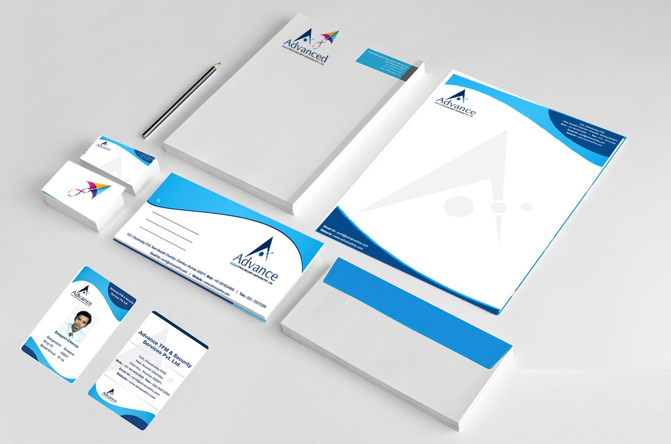 FMS Business Card and Letter Pad Design