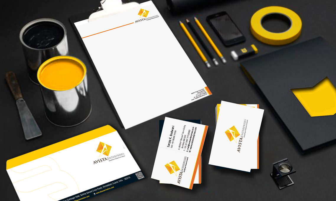 Business Card and Letter Pad Design Avista