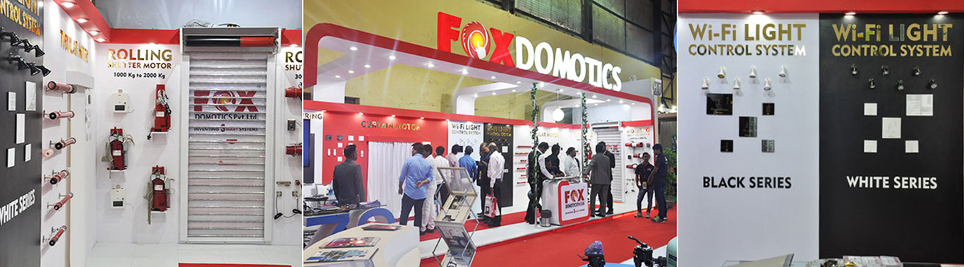 Fox Domotics Exhibition Stall