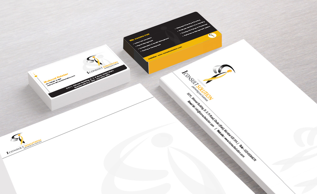 iConsult Business Card and Letter Pad Design